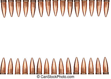 Bullet border isolated over a white background
