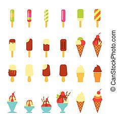 ice cream - vector illustration of collection of ice cream