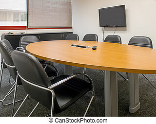 Conference room - Management chairs and table in modern...