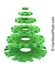 3d symbolic New Years fir tree - symbolic Christmas tree 3d...