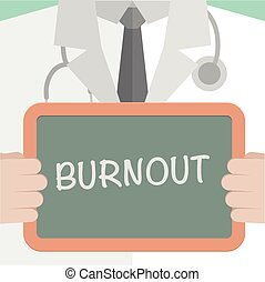 Medical Board Burnout - minimalistic illustration of a...