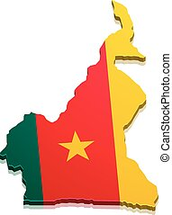 Map Cameroon - detailed illustration of a map of Cameroon...
