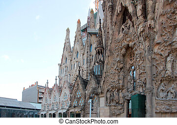 Sagrada Familia - View of the Sagrada Familia Barcelona...