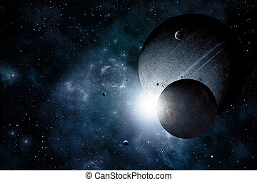 Blue Dark Space Background