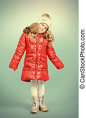 winter clothing - Pretty little girl in winter clothing....