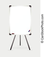 White board with colored makers and eraser