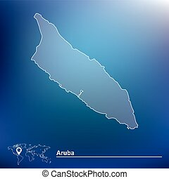 Map of Aruba - vector illustration