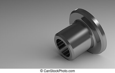 Steel flanged bushing - New steel glossy flanged bushing,...