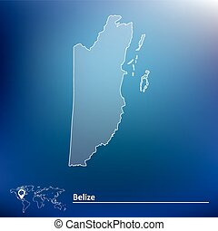 Map of Belize - vector illustration