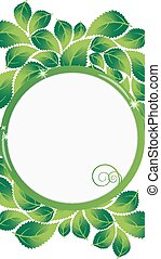 Lush foliage - Green leaves with round place for text