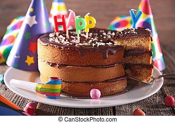 蛋糕, 生日, 巧克力