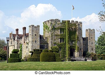 British castle - Hever castle in Kent, England