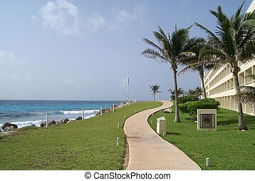 path, beach, Cancun, Mexico - Mexican pathway