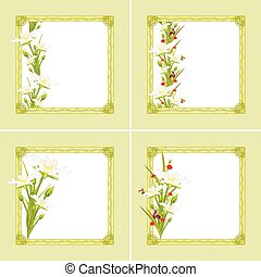 Decorative frames with flowers