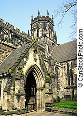 Chester Cathedral in the city of Chester, England founded in...