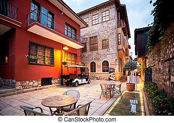 Old town Kaleici in Antalya Turkey - architecture background