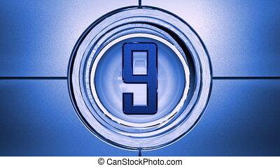Blue countdown