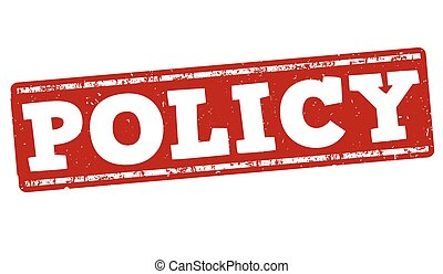Policy stamp - Policy grunge rubber stamp on white...
