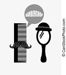 barber shop design, vector illustration eps10 graphic