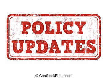 Policy updates stamp - Policy updates grunge rubber stamp on...