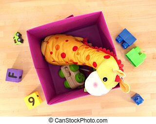 Toy Storage Box - A close up shot of a toy storage box