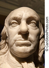 Oliver Cromwell - Early 18th century bust sculpture by...