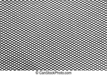 diamond metallic grill background isolated over white