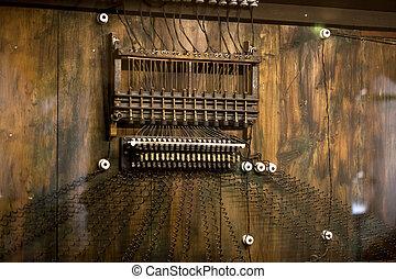 Closeup shoto of old stationary telephone - Closeup photo of...