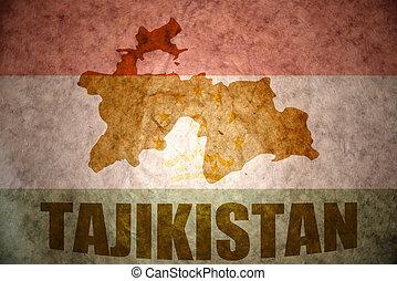 tajikistan vintage map - tajikistan map on a vintage tajik...
