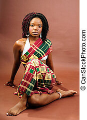 Regal African Woman - Beautiful African Young Woman Wearing...