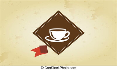Coffee Video animation - label of Coffee cup Video...