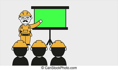 Industrial education Video animatio - Industrial instruction...