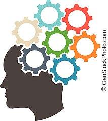Head in gears mind set logo - Head in gears