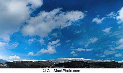 wolkenhimmel, FEHLER, Bewegen, Zeit, Berge, aus