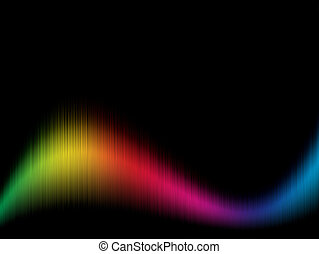 Spectrum background - Color spectrum wavy background with...