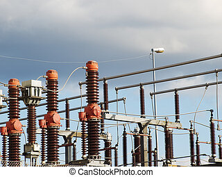 High voltage substation - High voltage electric power...