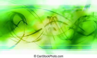 Green Swirl Template Style Loop - Animated Green Swirl...