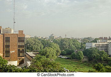 Offices and green space, Lahore, Pa - View from a tall...