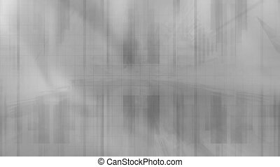 Gray Futuristic Looping Abstract - Animated Gray Futuristic...