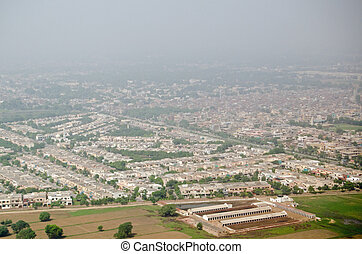 Lahore aerial view - View from a plane of the city of Lahore...