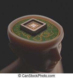 micro, cerebro,