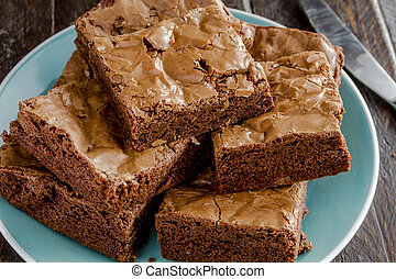 Homemade Double Chocolate Chunk Brownies - Homemade double...