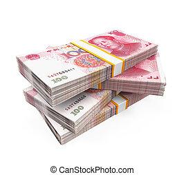 紙幣,  Yuan, 山, 中国語