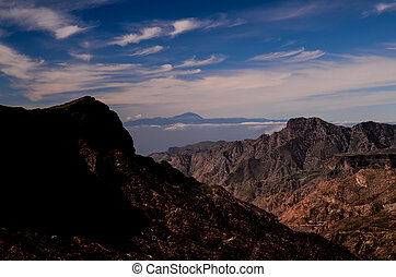 View of El Teide Volcan in Tenerife From Gran Canria...