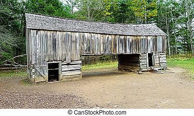 Cantilever Barn - An image of a cantilever barn.