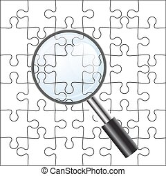 Background Vector Illustration jigsaw puzzle. with a...