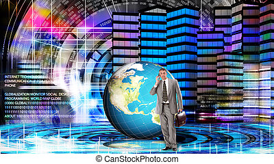 Financial businessGlobalization Internet technology