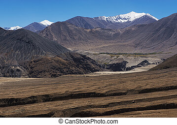 amazing black mountain and desert ,Leh-Nubra Valley Rd....