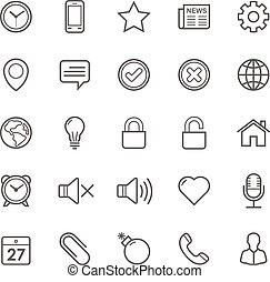 General icons - Set of Outline stroke General icons Vector...