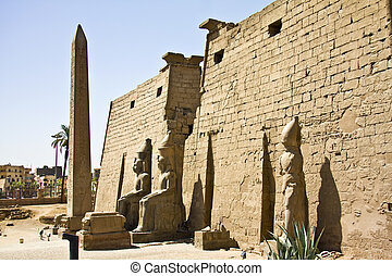 Luxor temple - Details of Egyptian art. An example of the...